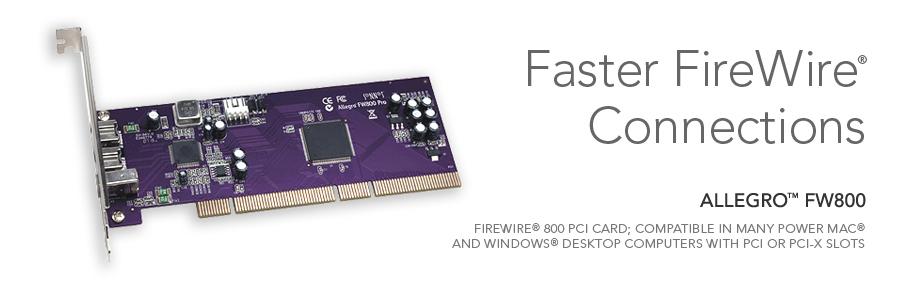 Allegro FW800 FireWire 800 PCI Computer Card | Sonnet