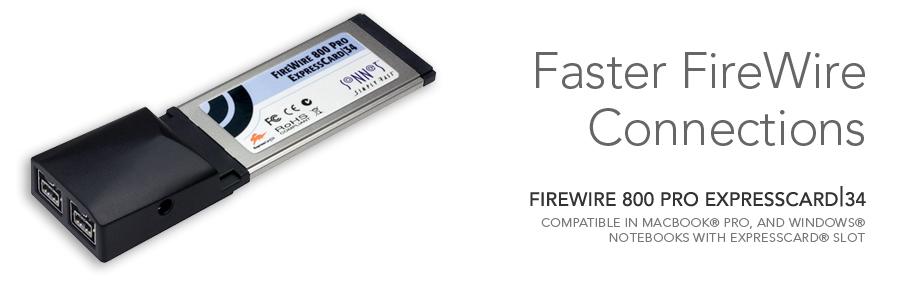 FireWire 800 Pro ExpressCard Adapter   Sonnet