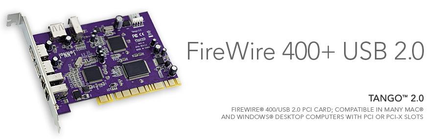 Sonnet - Tango 2.0 FireWire 400/USB 2.0 PCI Computer Card
