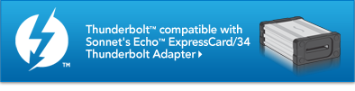 Thunderbolt Compatible with Echo ExpressCard/34 A
