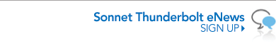 Sonnet Thunderbolt eNews Signup