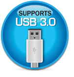 Supports USB 3.0
