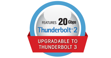 Features 20Gbps Thunderbolt 2 Logo