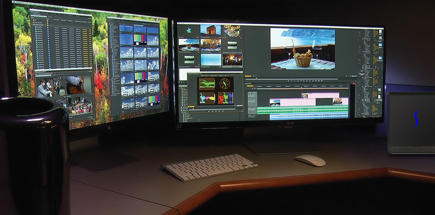 eGFX Breakaway Box with Mac Pro In Video Editing Studio
