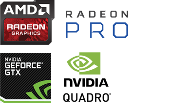 AMD RADEON和NVIDIA GEOFORCE GTX徽标