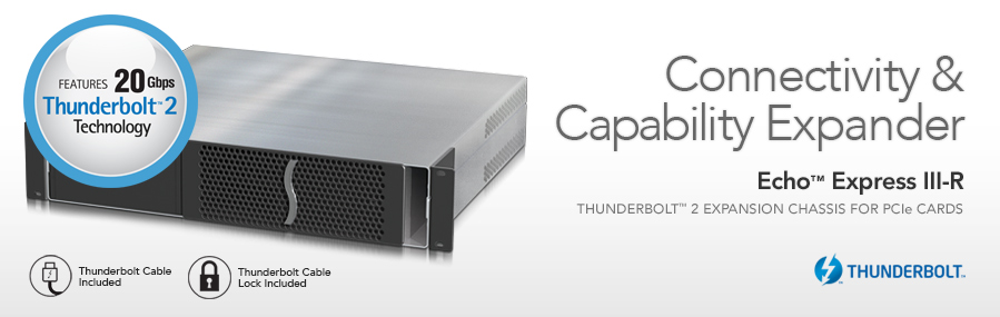 Echo Express III-R: 3-Slot Thunderbolt Expansion Chassis voor PCIe kaarten
