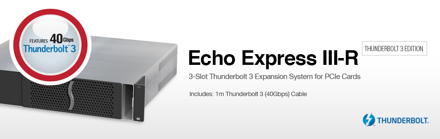 Echo Express III-R - Thunderbolt 3 Edition: Thunderbolt 3 Expansion System for PCIe Cards