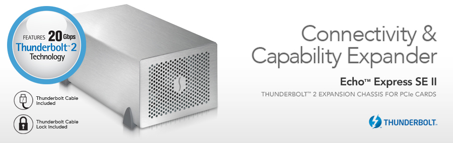 Echo Express SE II: Thunderbolt 2 Expansion Chassis voor PCIe kaarten