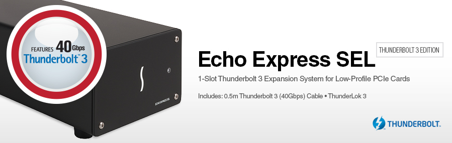 Echo Express SEL - Thunderbolt 3 Edition: Thunderbolt 3 Expansion System for PCIe Cards