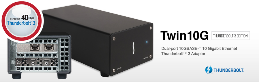 Twin 10G 10GbE Thunderbolt 3 Adapter