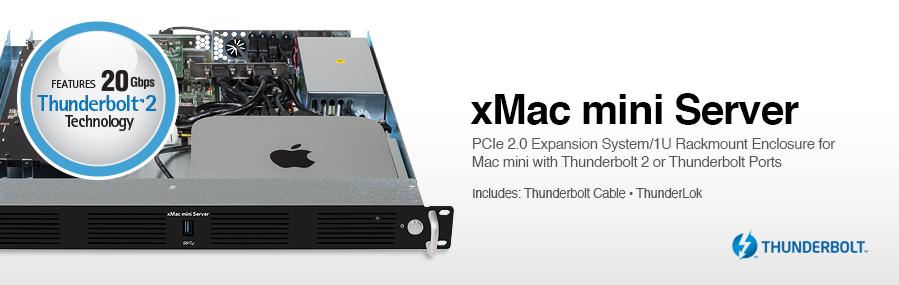 Sonnet Xmac Mini Server Thunderbolt Pcie 1u Enclosure
