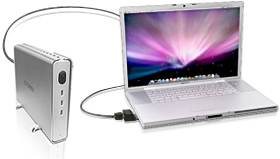 Connecting FireWire 800 Pro ExpressCard/34 installed into MacBook Pro to an external device