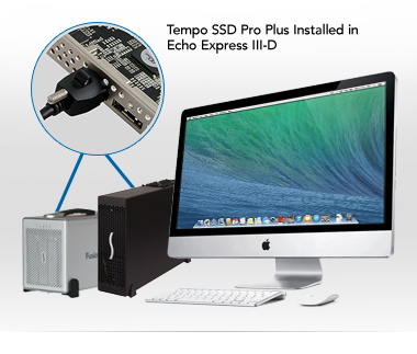 iMac with Echo Express III-D and Fusion QR