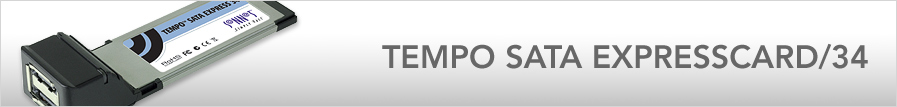 Tempo SATA ExpressCard/34
