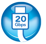 Thunderbolt 20Gbps Icon