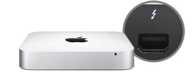 Mac mini with Thunderbolt Technology