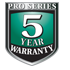Pro Series 5-Year Warranty Icon