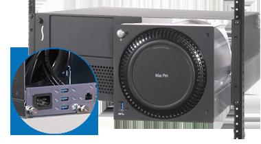 RackMac临与两个Mac专业人员安装