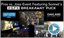 The eGFX Breakaway Puck and Pros vs. Joes Event at the Intel Extreme Masters 2017
