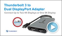 Thunderbolt 3 to Dual DualDisplay Adapter