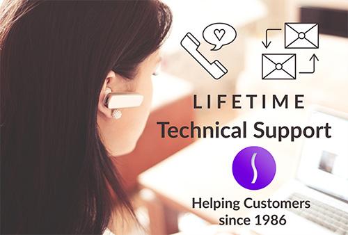 Gratis levenslange technische ondersteuning