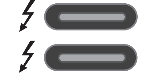 Thunderbolt 3 Port Icons