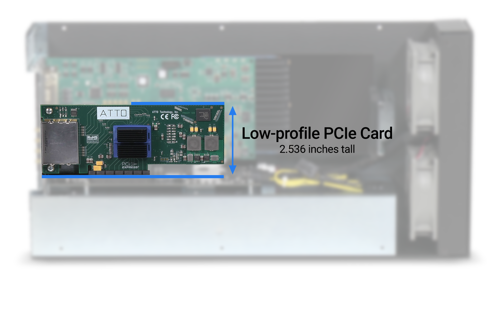 Low-profile PCIe Card Illustration