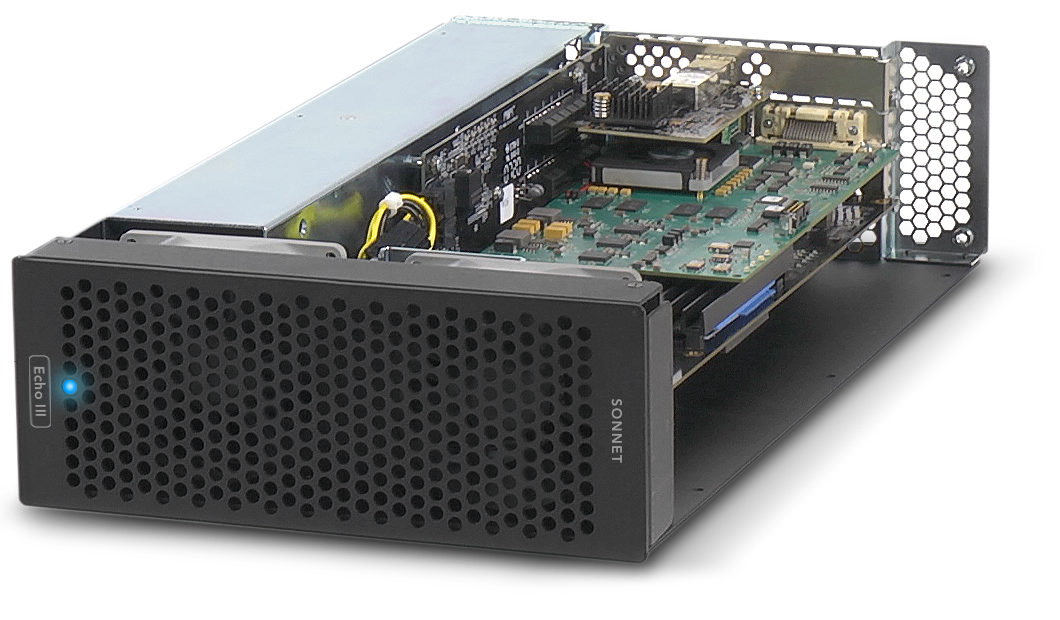 Sonnet Echo III Rackmount with PCIe Cards