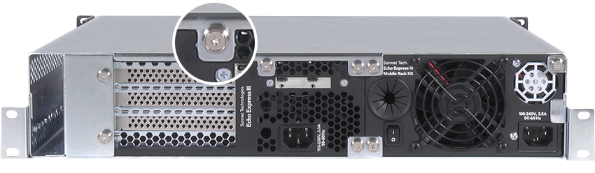 Echo Express III-R (Thunderbolt 3 Edition) Rear View
