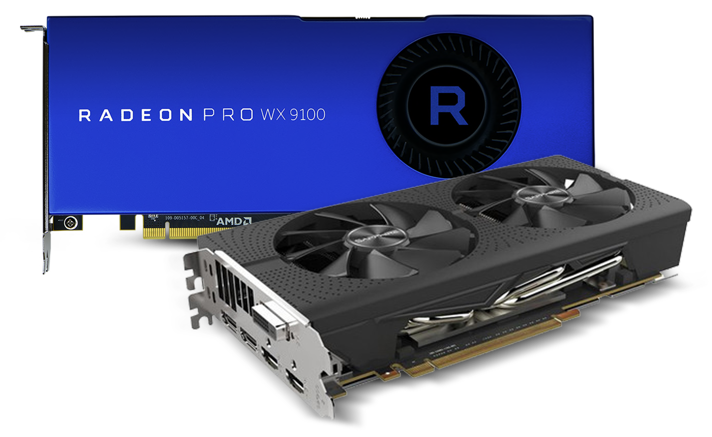 Radeon Pro WX 9100 and Radeon RX 580 Video Cards
