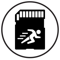 Fast SSD Cards Icon