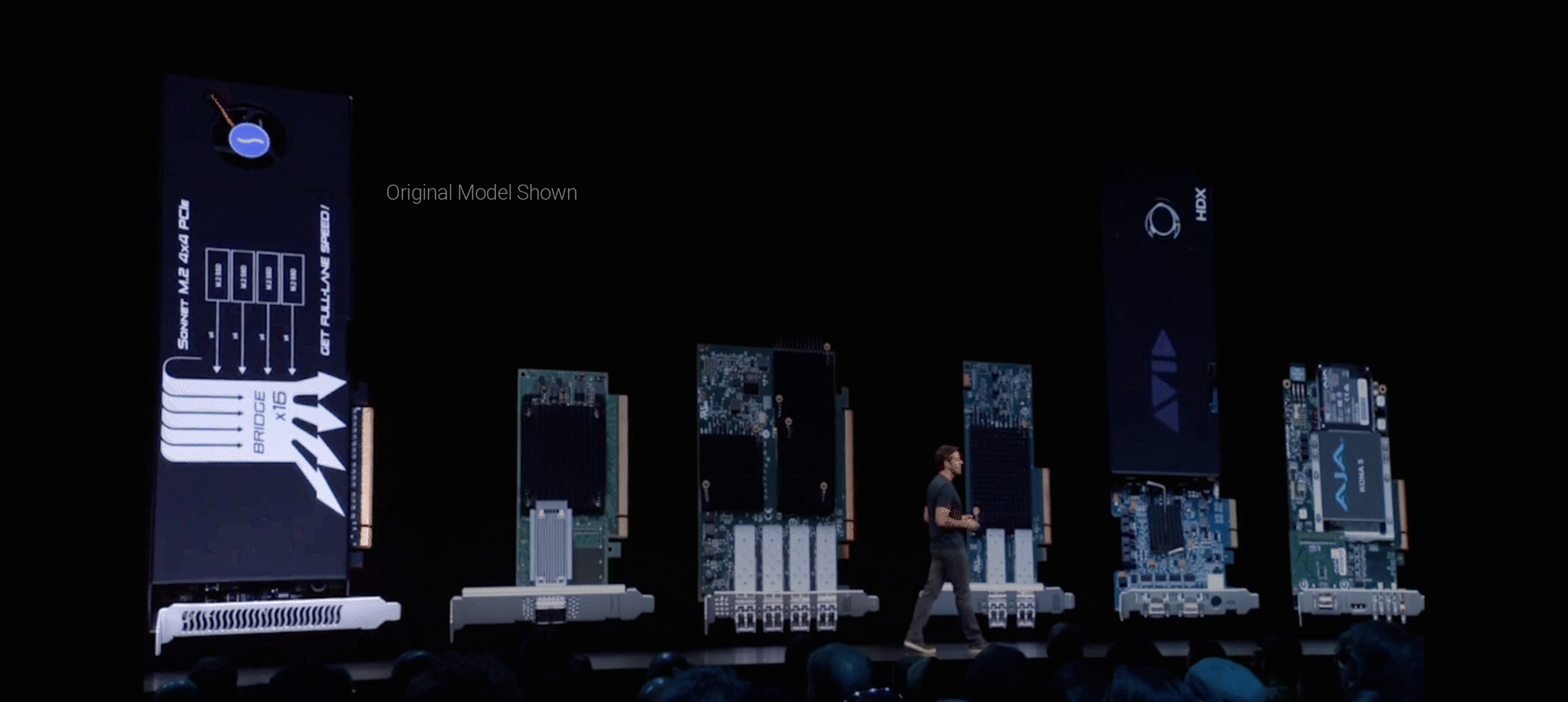 Screenshot of Sonnet M.2 4x4 PCIe Card Featured at Apple's WWDC Conference