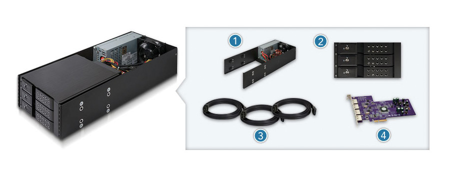 Mobile Rack Device Mounting Kit (Mac Pro Migration Edition)