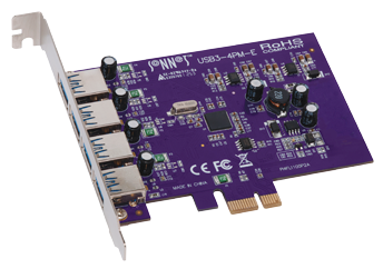 Allegro Type A USB 3.0 PCIe 4-Port Card