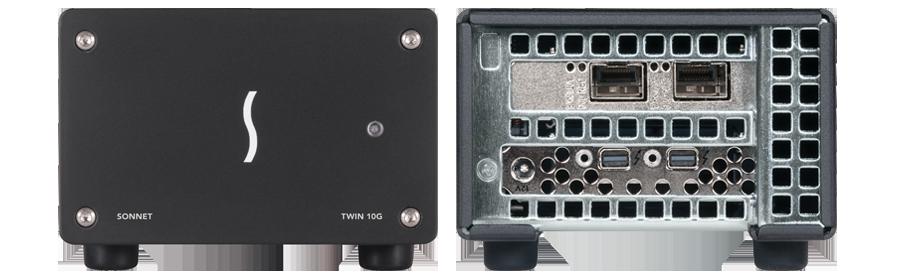 Twin10G SFP+ 10GbE Dual-Port 10 Gigabit Ethernet Thunderbolt