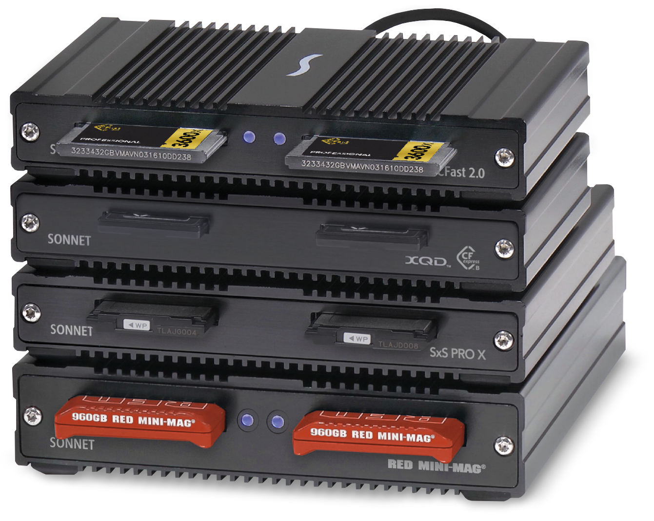 SF3 Series Pro Media Card Readers Stacked