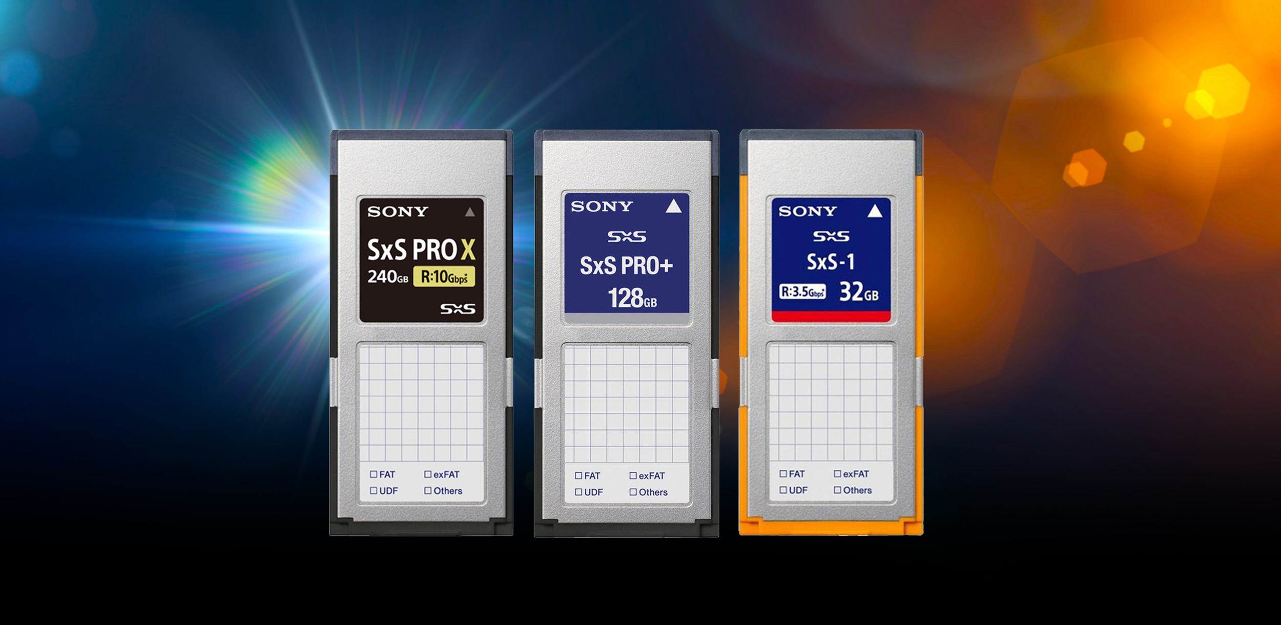 Sony SxS Pro X, SxS Pro, and SxS-1 Media Cards