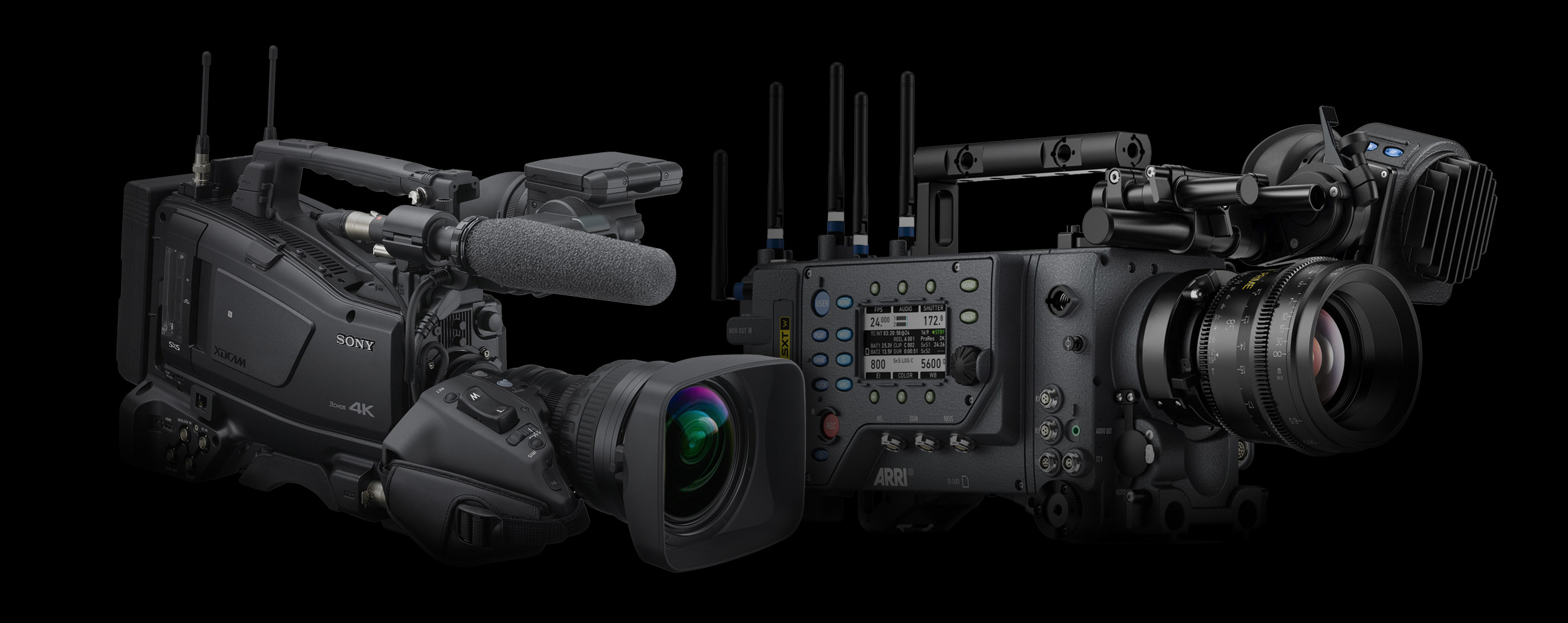 Sony PXW-Z750 and ARRI Alexa SXT W Video Cameras