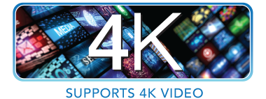Ondersteunt 4K Video Badge
