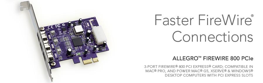 Sonnet - Allegro FW800 PCIe Computer Card