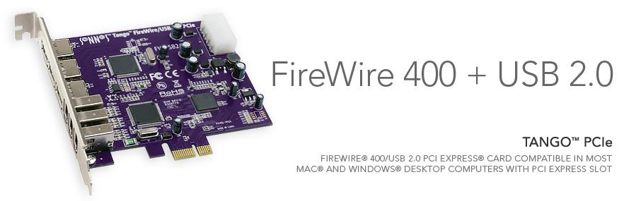 Tango PCIe FireWire 400/USB 2.0 Computer Card   Sonnet