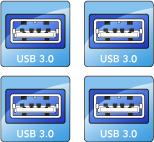 Four USB 3.0 Ports