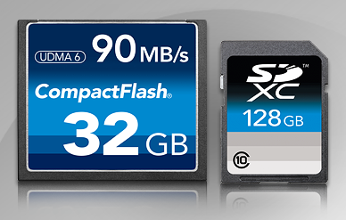 DiO CompactFlash and SDXC Media Cards