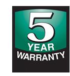 5-jaar garantie Logo
