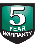 5-Year Warranty Logo