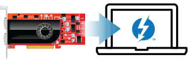 PCIe-kaart en notebook-pictogrammen