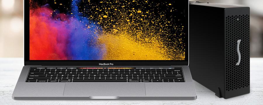 Echo Express III-D TB3 met MacBook Pro