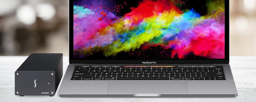 Echo Express SEL TB3 met MacBook Pro