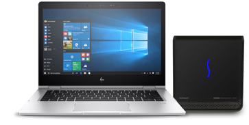 HP Notebook with eGFX Breakaway Box
