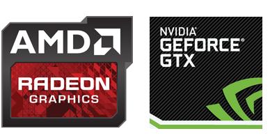 AMD RADEON & NVIDIA GEOFORCE GTX Logos